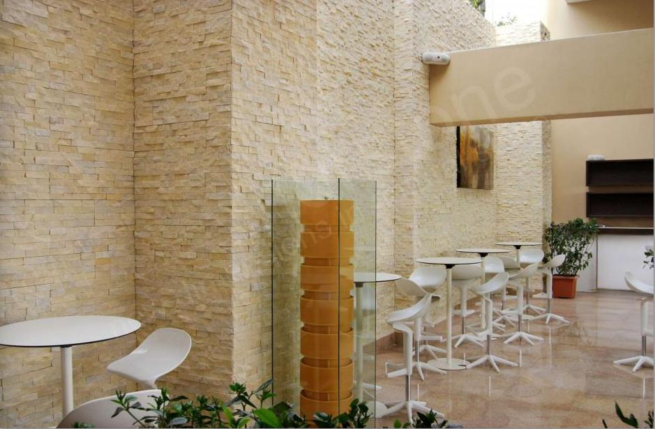 Restaurant wall stone cladding tile