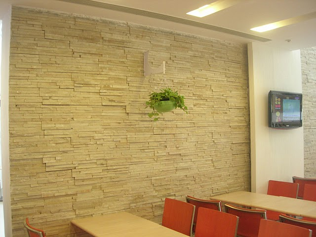 Restaurant wall stonecrete cladding tile