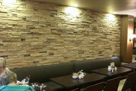 Restaurant stonecrete wall cladding tile supplier in delhi
