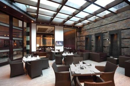 stone tiles in restaurant