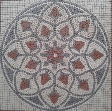 stone mosaic medallion
