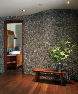 stone pebble interior wall