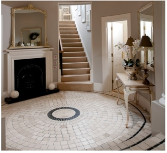 beige stone foyer flooring supplier in delhi