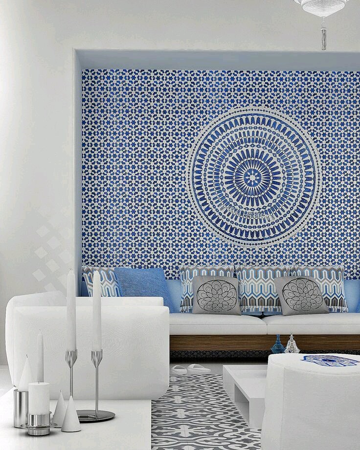 mosaic mural wallpaper interior wall