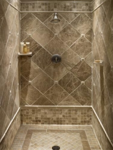 grey stone bathroom tile supplier in delhi