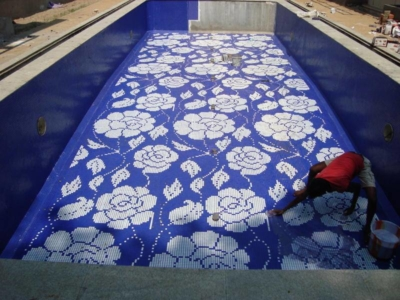 glass mosaic pool tiles in delhi