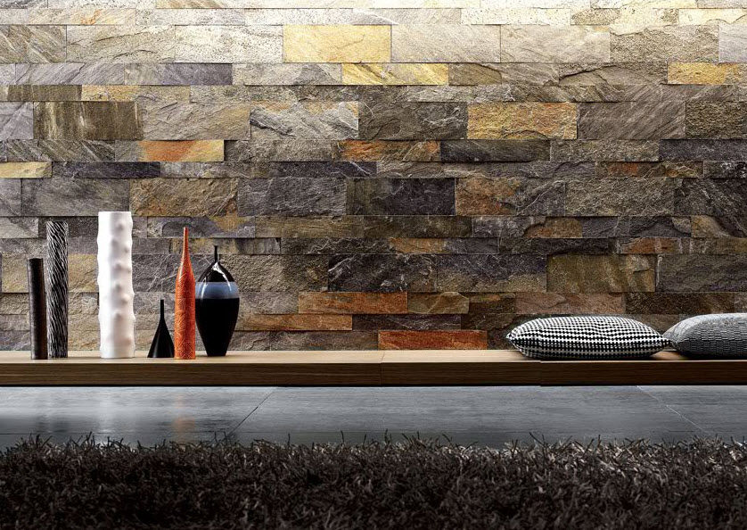 multi color stone wall cladding tile supplier in delhi
