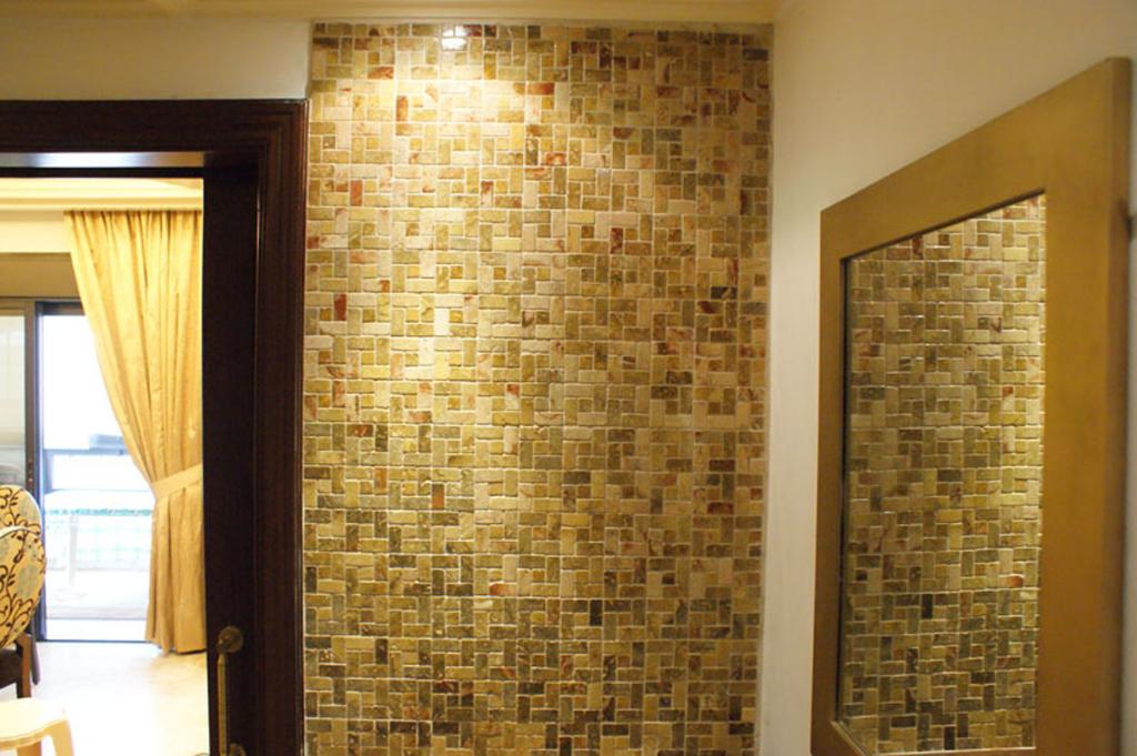 mosaic wall interior
