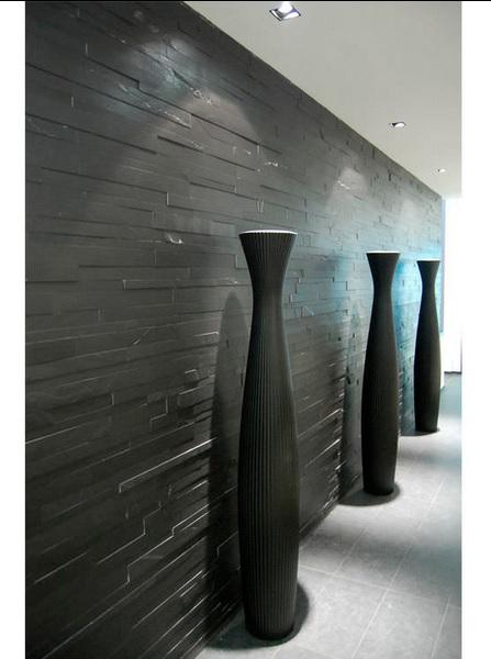 black stone wall cladding tile supplier in delhi