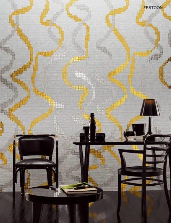 golden Mosaic Mural tiles in delhi
