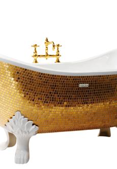 gold bathtub mosaic