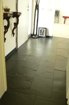 rustic black stone flooring in delhi