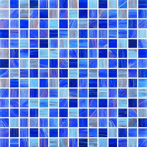 blue glass mosaic in delhi