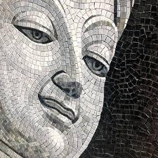 buddha mosaic mural