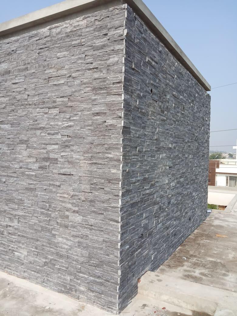 Latest Grey stone Exterior wall tile designs   Artimozz Walls & Floors