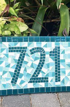 mosaic name plate