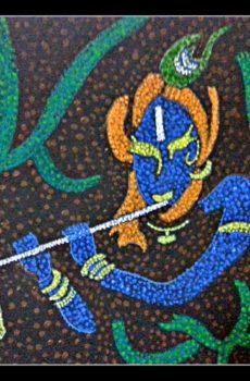 krishna mosaic artwork