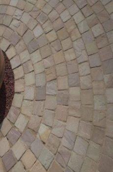 multi color stone flooring