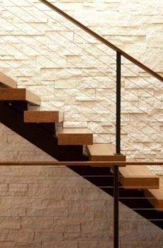 3D Beige Color Stone Wall Tile